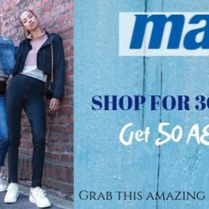 Shop for 300AED and get 50 AED off at Max Fashion | Coupon Code: MMS