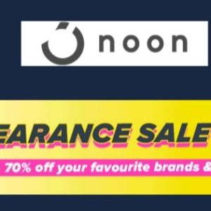 Noon Clearance Sale| Up to 70% off
